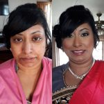 Before & after occasion makeup